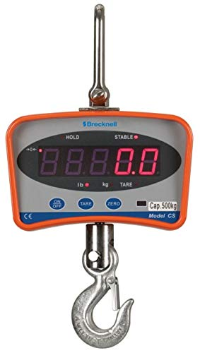 Brecknell CS Series Electronic Crane Scale, 1000 lb Capacity, Visible LED, Remote Control, Dual Power