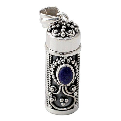 Lapis Lazuli Locket (NOVICA Lapis Lazuli .925 Sterling Silver Locket Pendant 'Calmness')