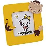 Lote de 30 Portafotos JUNGLA Amarillo en madera natural con divertidos diseños de animales. Para fotos de…