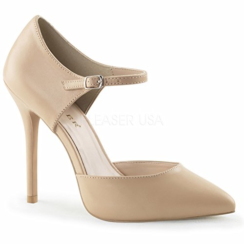 Pleaser AMUSE-35 Womens Shoes, Nude Leather, Size 11