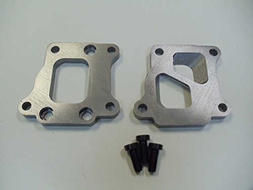 EVO 8 DSM Exhaust Manifold to T3 divided Turbo Adapter Flanges (2) 1/2