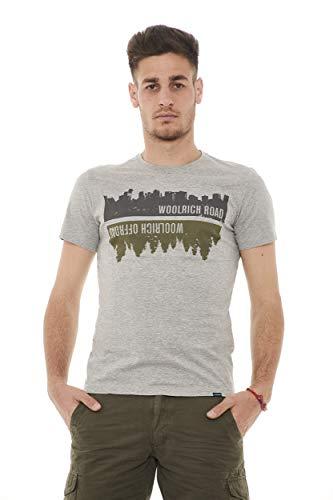 Melange shirt Woolrich Tee Grigio T Commuting Uomo qSY0Zx