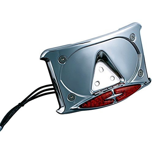 Kuryakyn 3166 Lighted Curved License Plate Frame with Accent Taillights (Kuryakyn Frame License Plate Curved)