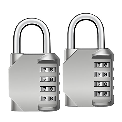 Oria Combination Lock, 4 Digit Combination Padlock for School, Employee, Gym & (Combination Sports Lock)