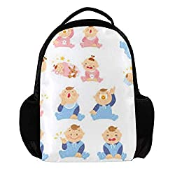 Backpack for Women and Men Lapto Backpack shoulder bag Travel Backpack for Boys and Girls Kids Anti Theft School Backpacks hiking bags Baby 11x5x15inch