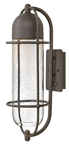 Hinkley 2384OZ Contemporary Modern One Light Outdoor Wall Mount from Perry collection in Bronze/Darkfinish,