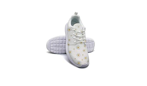 Daisy Flower Pattern Shoes Women Ultra Lightweight Classic Walking Sneakers Running Shoes