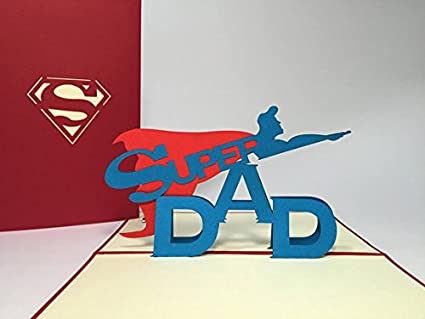 Amazon Pop Bunny Super Dad Pop Up Fathers Day Card Funny