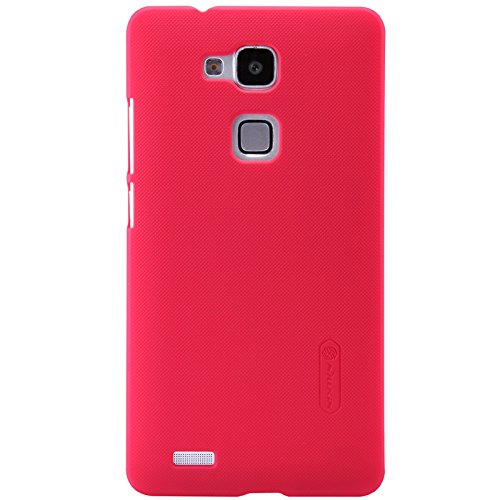 IVSO Huawei Ascend Mate 7 Super Matte Shield Cover High Quality Case+ Crystal Clear Screen Protector -will only fit Huawei Ascend Mate 7 Smartphone (Red)