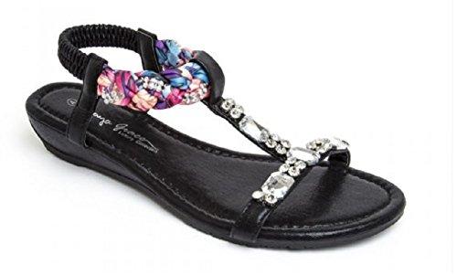 Koo-T - Sandalias de vestir de Material Sintético para mujer negro