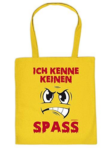 ICH KENNE KEINEN SPASS :Tote Bag Henkeltasche Beutel mit Aufdruck. Tragetasche, Must-have, Stofftasche,Geschenkidee