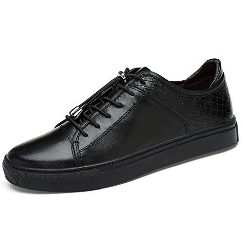 FADACAI Chaussures de skateboard pour hommeChaussures de skateboard occasionnellesLow-Top SneakersFormateurs Basse AideChaussures antidérapantes soupleschaussures blanchesGrande taille2078FD Black ofPv6