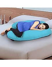 Novo 3.5kg PP Cotton comfort Pregnancy & Maternity Pillow, Blue - 145x90x25cm