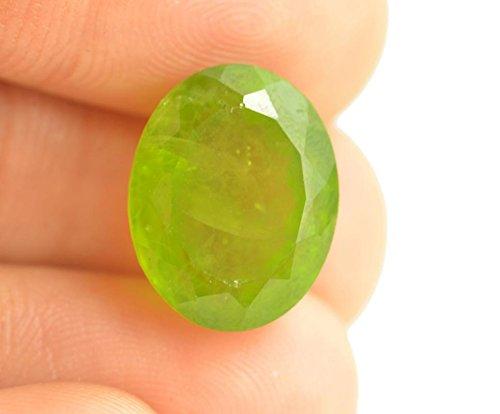 Getgemstones Peridot Stone Real Certified Ova Cut Green Substitute of Emerald Gemstone 10.4 Carat By ()