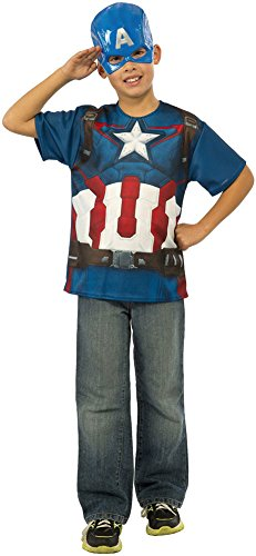 [Rubie's Costume Avengers 2 Age of Ultron Child's Captain America T-Shirt and Mask, Medium] (Avengers 2 Captain America Costumes)