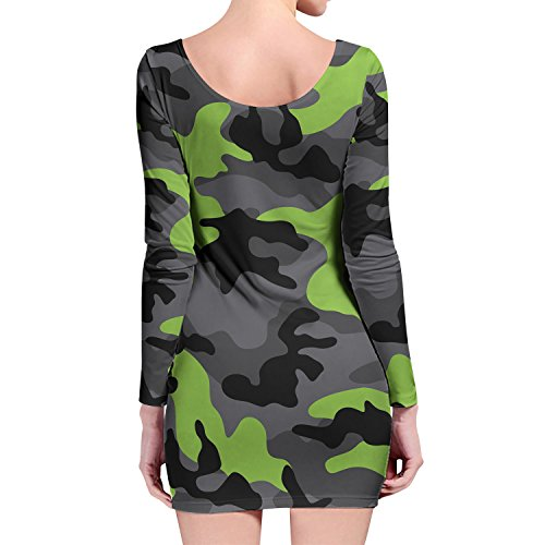 Queen of Cases - Robe - Moulante - Manches Longues - Femme vert vert One Size