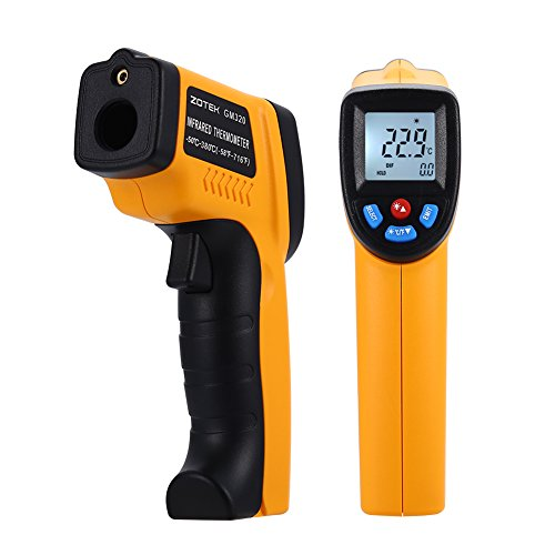 TOPONE GM320 Digital Infrared Thermometer,Professional Non-Contact Laser Temperature Tester Gun Measuring Range -50 to 380°C (-58 to 716°F) with LCD Display 2pcs AAA Battery Included