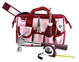 Tool Kit. Best Portable Small Basic Starter Professional Household DIY Hand Mixed Repair Set W/Storage Bag For Home, Garage, Office For Women. Includes Screwdriver, Wrench, Pliers, Etc.