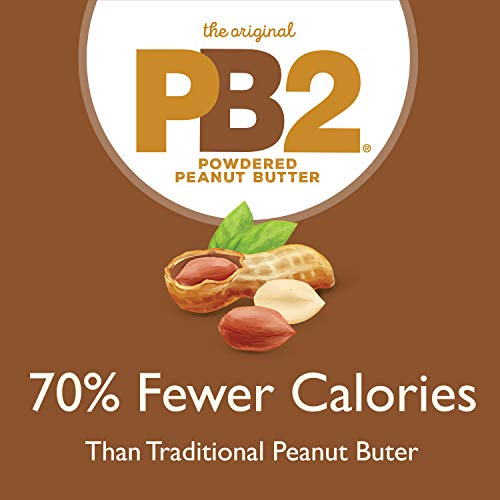 PB2 Powdered Chocolate Peanut Butter with Cocoa - 4g of Protein, 90% Less Fat, Certified Gluten Free, Only 50 Calories per Serving for Shakes, Smoothies, Low-Carb, Keto Diets [2 Lb/32oz Jar] (32oz) 7