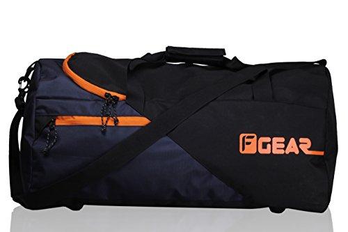 F Gear Explory 54 Liters Travel Duffle Bag (Black Orange)