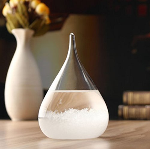 Weather Forecast Crystal Storm Glass Home Decor Christmas Gift by Superjune ()