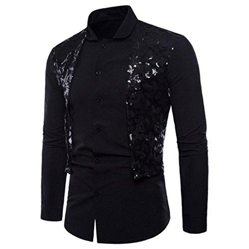 Ximandi Male Slim Fit Plaid Cotton Dress Shirts with Fashion Bud Silk Shawl Shirt by Ximandi