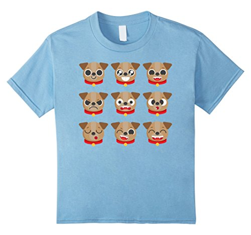 Kids Awesome Dog Emoticon T-shirt For Fun Cheap Costume Outfits 10 Baby (Top 10 Halloween Costumes 2017)