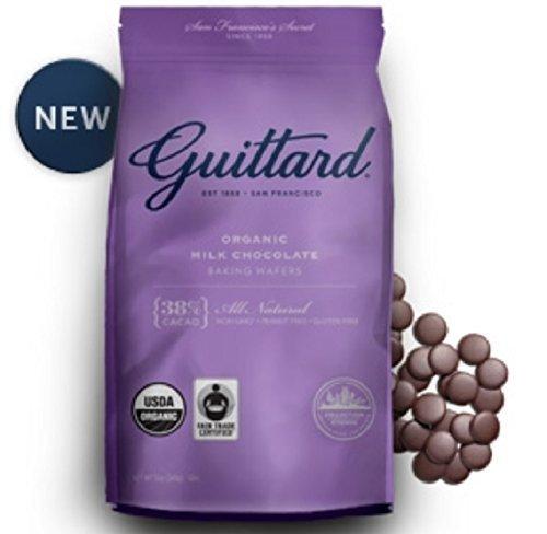 Guittard Organic Milk Chocolate 38% Dark Baking Wafers, 12 Ounces by Guittard Chocolate