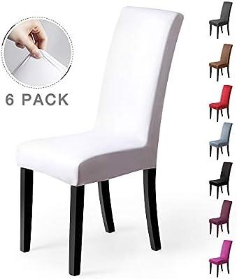 Fundas para sillas Pack de 6 Fundas sillas Comedor Fundas elásticas ...