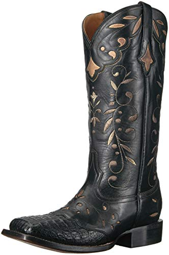 Hornback Caiman Cowboy Boots - Lucchese Bootmaker Women's Sherilyn Western Boot, Black, 9.5 B US