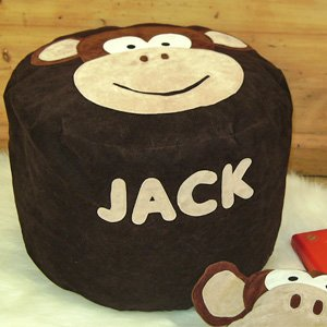 Handmade Personalised Bean Bag Chair Melvin The Monkey Suede Gift Ideas For