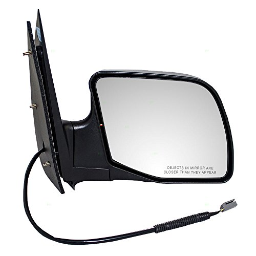 Passengers Power Side View Mirror Paddle Type Textured Replacement for Ford Van ()