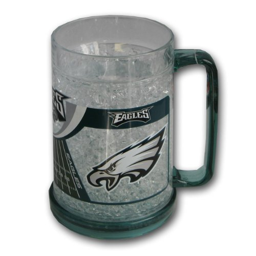 Philadelphia Eagles 16oz Crystal Freezer (16 Ounce Frosty Mug)