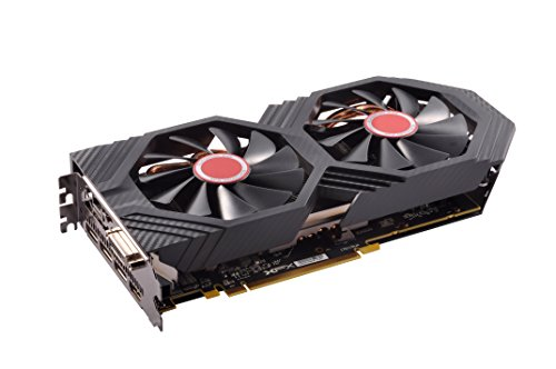 XFX Radeon RX 580 GTS XXX Edition 1386MHz OC+, 8GB GDDR5, VR Ready, Dual BIOS, 3xDP HDMI DVI, AMD Graphics Card (RX-580P8DFD6) (Best Graphics Card Under 500 Dollars)