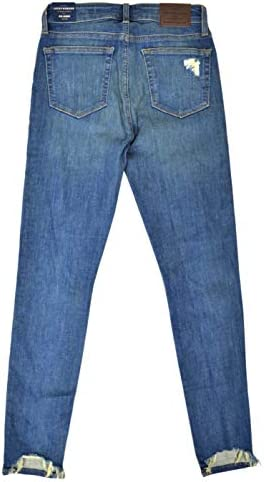 Lucky Brand Womens 7WD11164 Mid Rise Distressed Ava Skinny Hollis Destory Blue Wash (31W Ankle)