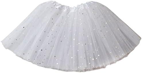 Ksnrang Falda Tutú para Mujer con Estrella Brillos de Ballet Tutu ...
