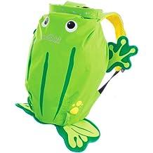 Trunki PaddlePak Backpack - Water Resistent Kids Backpack (Ribbit), Green