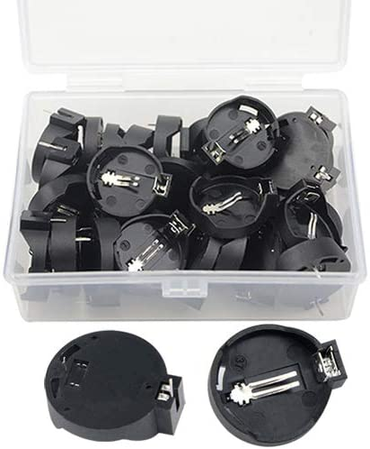 20pcs Portable CR2032 CR2025 General Button Battery Clip Holder Box Case Black