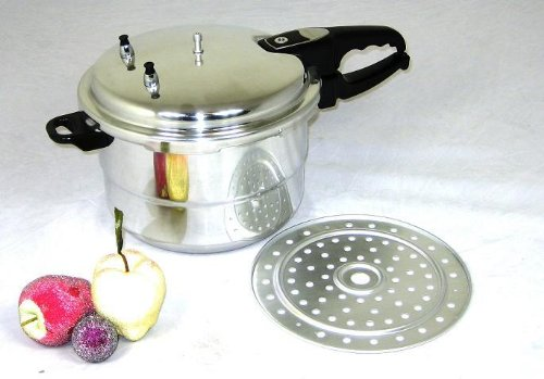 Uniware 11 Liter UL Listed Aluminum Pressure Cooker with steamer [1050-28]