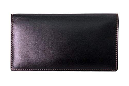 ili New York 7406 Leather Checkbook Cover (Black/Toffee)