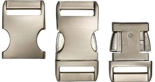 5 - 3/4 Inch Satin Aluminum Side Release Buckles (Contoured Side Release Buckle 3 4 compare prices)