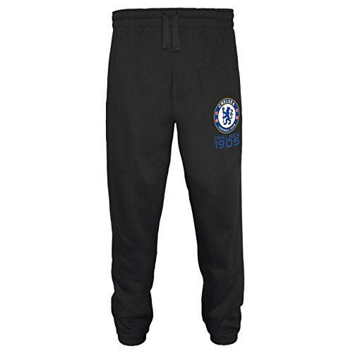 Chelsea FC Official Gift Mens Fleece Joggers Jog Pants Black XL (Pants Fleece Jog)