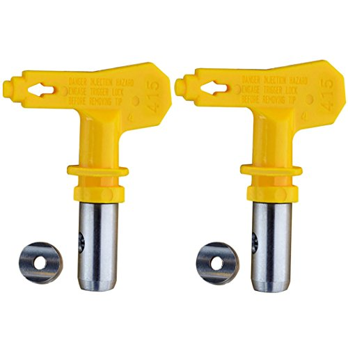 Jewboer 2pcs Reversible Airless Spray Tips for Airless Paint Sprayer (Reversible Spray Tip Guard)