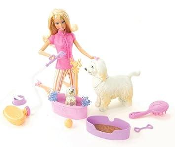 Mattel Barbie N4890-0 - Insieme Con La Bambola E Cani - Bagno ...