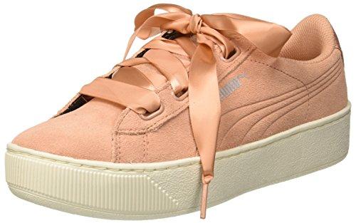 Puma WoMen Vikky Platform Ribbon S Low-Top Sneakers, Black Black, 3.5 UK Pink (Dusty Coral-dusty Coral 07)