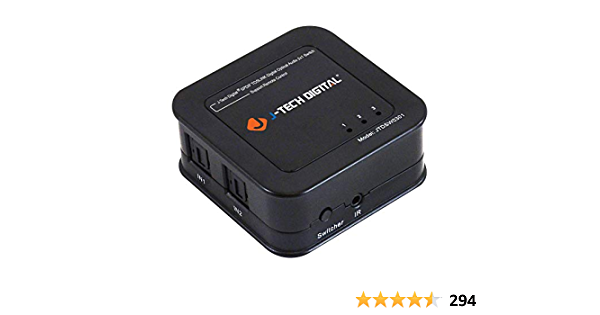 J-Tech Digital Premium Quality SPDIF TOSLINK Digital Optical Audio 3x1 Switch with Remote Control (Three Inputs one Output)