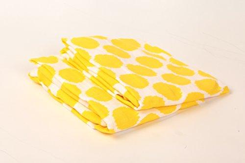 Bacati Ikat Yellow Dots 2 Pc Muslin Crib Sheets