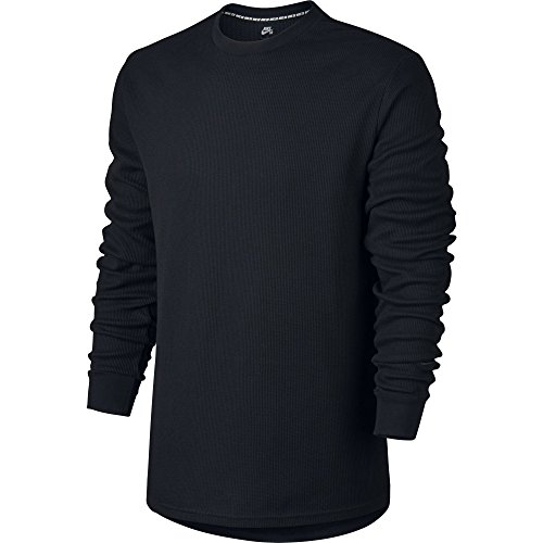 Nike SB Dry Top Men's Long Sleeve Thermal Top (Large, Black/Black) -