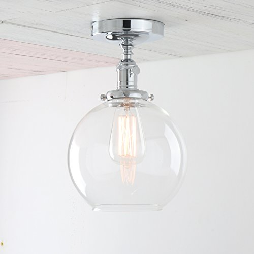Pendant Lights With Clear Glass Globes - 9
