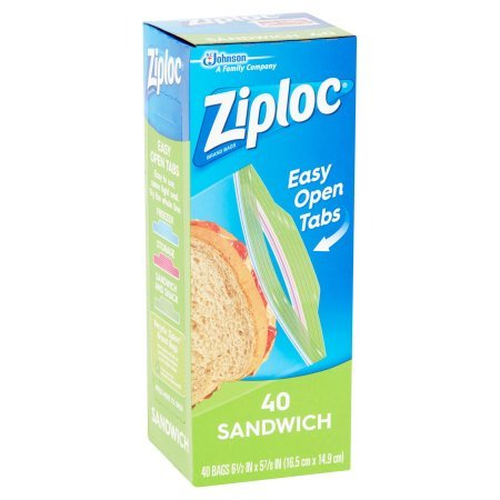 Ziploc Zipper Sandwich Bags | Now Featuring Our Easy Open Tabs (80-Count)